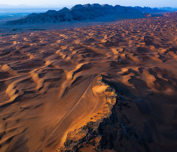 Aerial Sky Sand Dune Desert Beauty In Nature Drone  Day Outdoors Nature Sand Vertical Aerial View Landscape Scenics