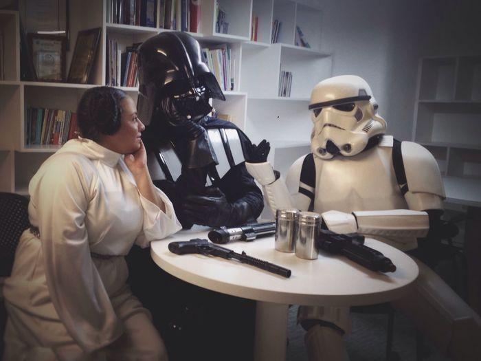 That moment when you are not part of the conversation... Starwars Darthvader Stormtrooper Princessleia Venezuela