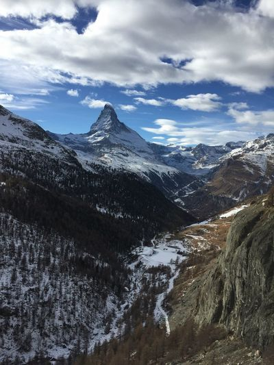 Matterhorn, Zermatt Matterhorn  Cervin Cervino Switzerland Svizzera Schweiz Snow ❄ Mountains Mountain Range EyeEm Best Shots EyeEm Gallery The Great Outdoors - 2016 EyeEm Awards EyeEmBestPics EyeEm Best Shots - Nature EyeEm Masterclass The Week Of Eyeem The Week On Eyem Cloud Clouds And Sky Summit Winter Matterhorn Glacier Paradise Beauty In Nature Landscape The Great Outdoors - 2018 EyeEm Awards