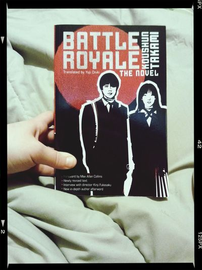 Finally bought the book that helped base one of the greatest cult films ever. I cannot wait to start reading it after midterms. Battle Royale Books Cult Classics