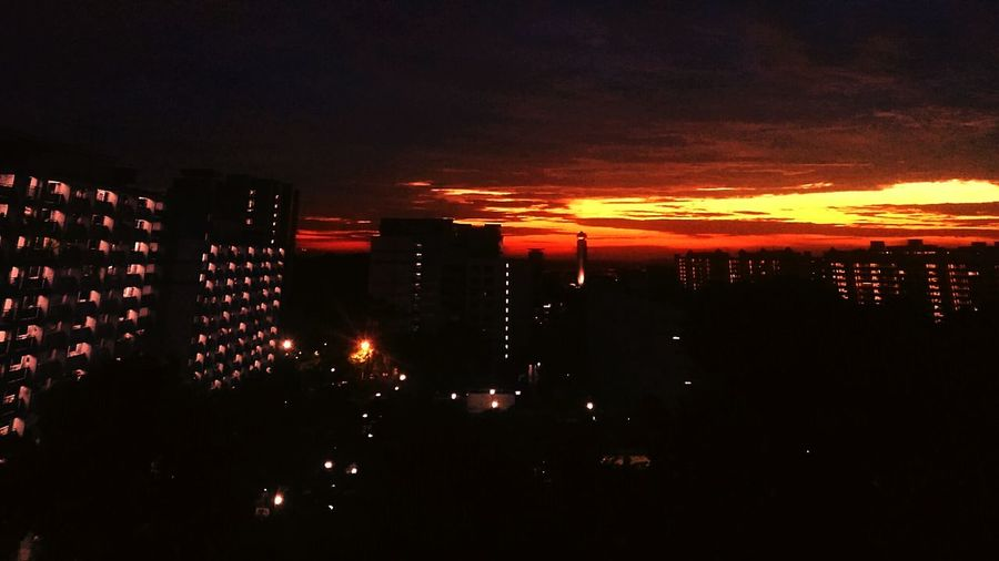 After two years, I noticed the sunset view from my flat.. Sunset Porn Apartment View First Eyeem Photo
