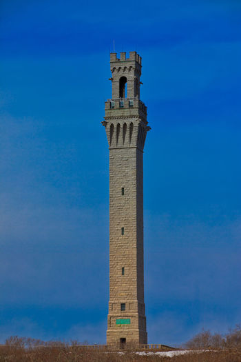 Pilgrim Monument in Provincetown on Cape Cod in Massachusetts. Architecture Blue Clear Sky No People Outdoors Pilgrim Monument Tower