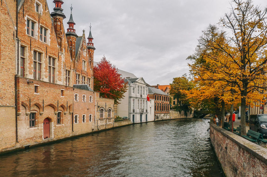Autumn in Bruges, Belgium Architecture Autumn Beauty In Nature Bruges Brugge Building Exterior Canal Europe Fall Outdoors River Sky Tranquility Travel Destinations Tree Wanderlust Water Waterfront