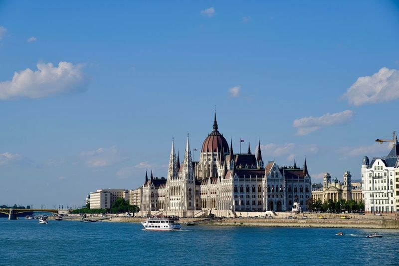 Parliament of Budapest... Magyar Hungary Budapest Parliament Parlament Water Building Exterior Architecture Built Structure Sky Waterfront Building City Nature Nautical Vessel Travel Destinations Transportation Tourism River No People Mode Of Transportation