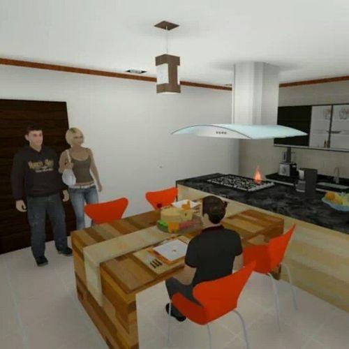 Reforma Cozinha !! Arquitortura Arquitetura DesignInteriores Reforma Sketchup Lumion3D MaqueteVirtual Projeto Work AmoMuitoTudoIsso