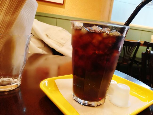 Coffee Cafe Drink Drinking Glass Food And Drink Table Cold Drink Ice Cube No People Indoors  Drinking Straw Close-up