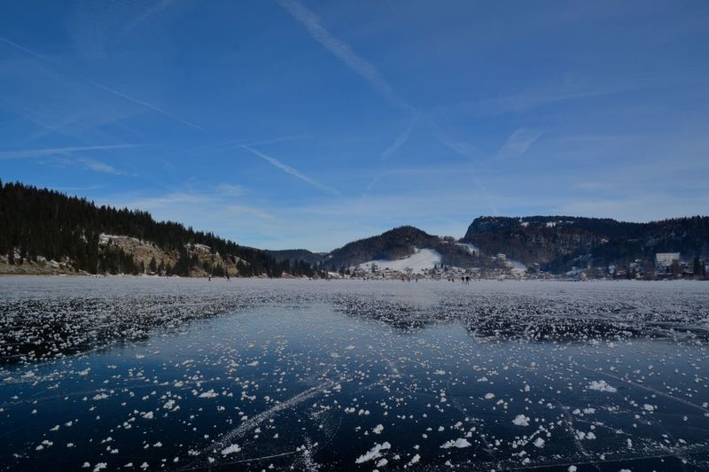 Lac de Joux, this lake was frozen, so we had iceskating on it! Beauty In Nature Blue Sky Cold Cold Temperature Ice Ice Skating Lac De Joux Lake Lake View Landscape Nature Outdoors Reflection Scenics Snow Switzerland Tranquil Scene Winter Winter Neighborhood Map The Great Outdoors - 2017 EyeEm Awards Lost In The Landscape Visual Creativity The Great Outdoors - 2018 EyeEm Awards