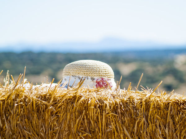 Composition Fashion Field Hat Summer Views Summertime Bale  Bales Close-up Day Decoration Enjoy Enjoying Life Fields Focus On Foreground Nature Outdoors Protection Straw Straw Bales Straw Hat Summer Woman Hat