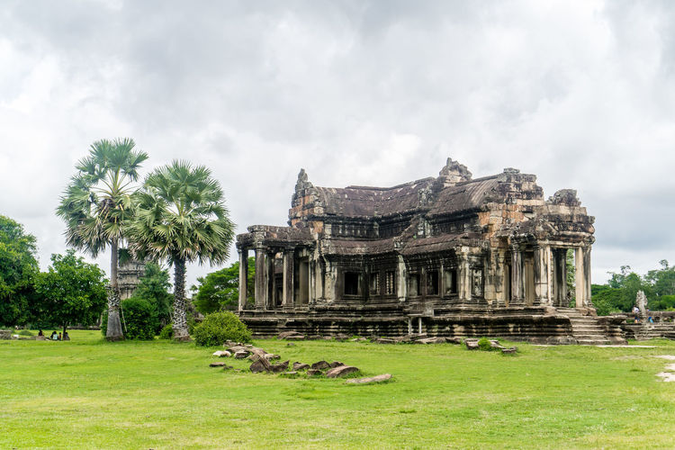 View of temple against cloudy sky