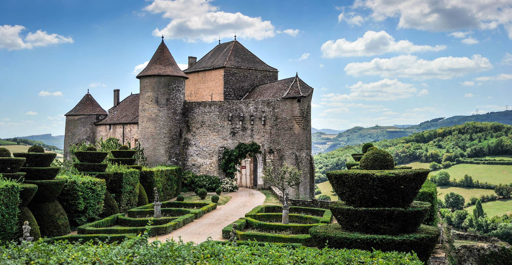 Bourgogne Castles France Architecture Beauty In Nature Building Exterior Built Structure Castle Ruin Landscape Middle Ages Sky The Past Travel Destinations