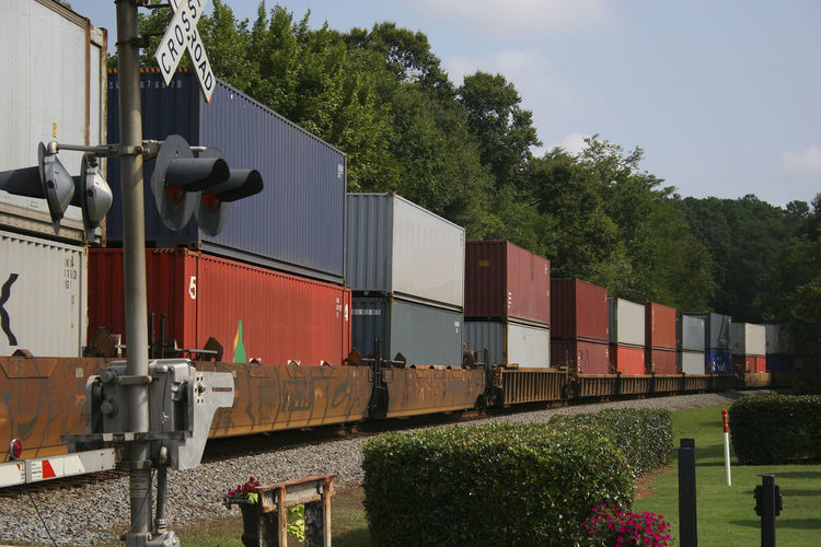 View of freight train