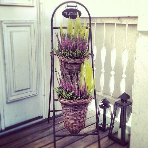 Velkommen! ??? Entrance Door Lyng Velkommen welcome autumn fall høst heather