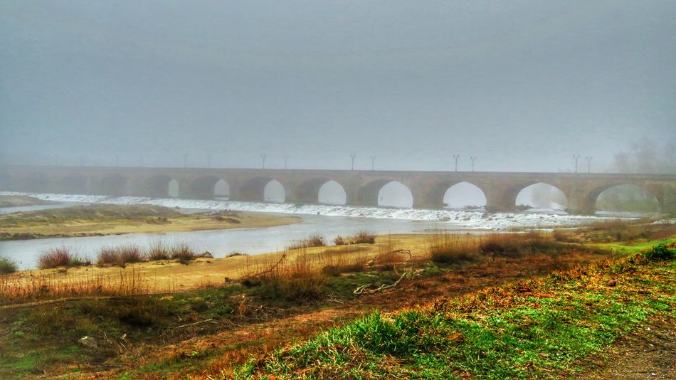 Water Bridge - Man Made Structure Outdoors Nature Tree Day No People Beauty In Nature Sky Photography Beautifulview Foggy Landscape Fog Mist Beautiful Colors Beautiful Winter Cold Architecture Nature Canon Canonphotography Canonpowershot Photo Beautiful Sky