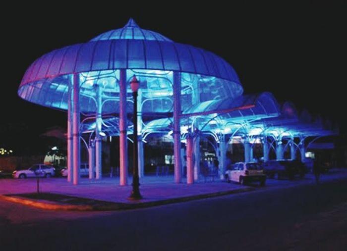 Architecture Modern Illuminated Night