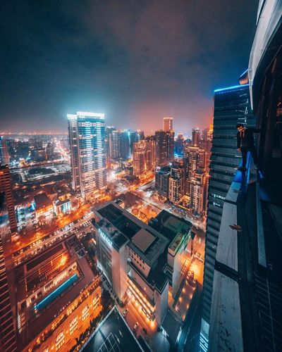 EyeEm Best Shots Urban Exploration Urban Rooftop View  Rooftop City Architecture Building Exterior Illuminated Cityscape Building Built Structure Sky Modern City Life Night