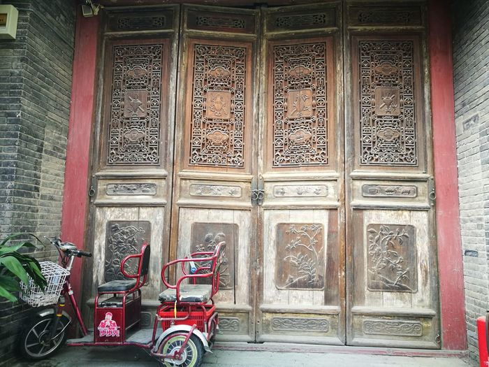 Architecture Built Structure Outdoors No People wood carved door Four Seasons  Four Gentlemen archaic Art Is Everywhere