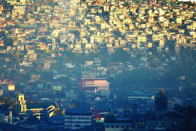 Baguio City, Philippines Travel Destinations No People Full Frame Cityscape Gold Colored Urban Skyline Outdoors Horizontal Day Crowded City Architecture Horizontal Urban Geometry Urban Landscape Urban Social Issues Cityscape Finance City Texture Cluster Slum