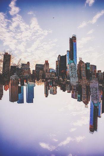Portrait Of America Damien Guyon - Endymion Photographies - Laputa Project - Website : http://endymion-photo.com Clouds Sky City Building Newyork Art Reflection Canon Taking Photos