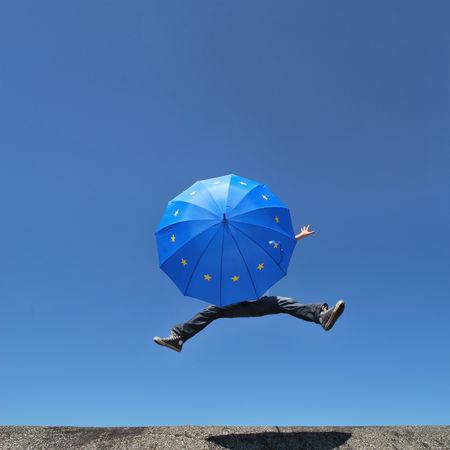 Ballance Democracy European  Blue Sky Europe Jumping Save Umbrella