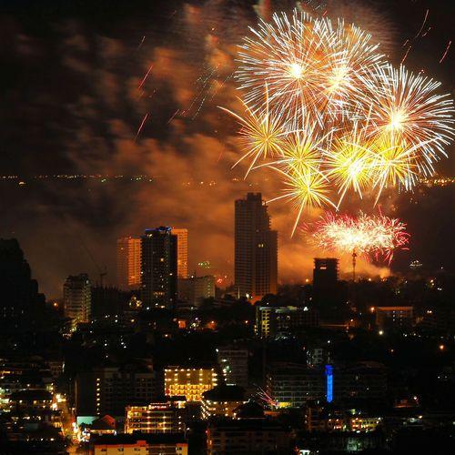 Fireworks at Pattaya waterfront