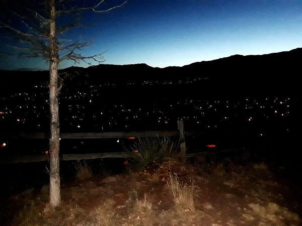 City lights in Colorado Springs Sky Outdoors No People Night Mountain City Beauty In Nature Tranquility Scenics Landscape Nature