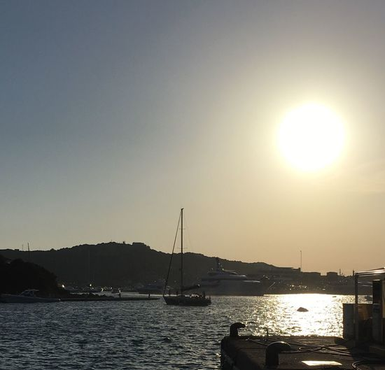 Yatch Marina Port Evening Light Sardinia Sardegna Italy