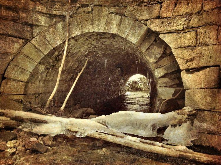 Stone Tunnel along Solomon Creek