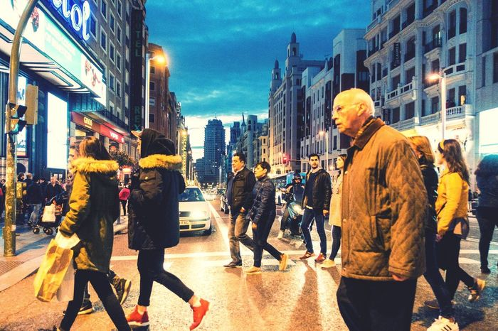 People Photography People People Watching Streetphotography Street Photography City City Life Urban Urban Lifestyle Madrid City View  Cityscapes Night Night Lights Nightphotography Nightlife Up Close Street Photography Cities At Night This Is Aging