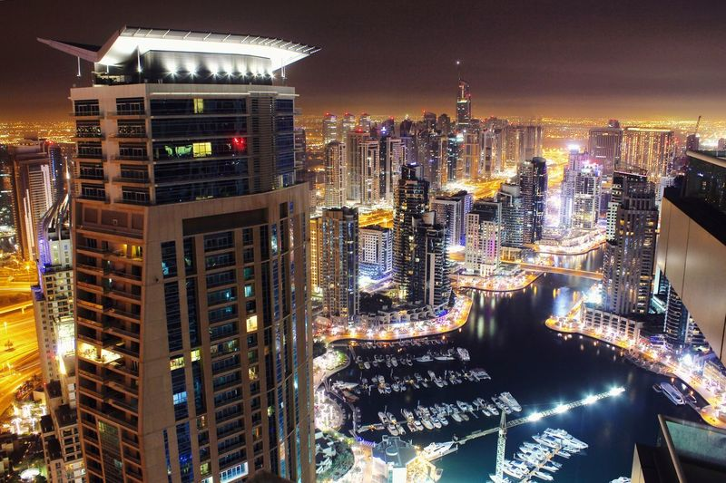 Dubai Dubai❤ Dubaicity Dubai Marina Skyscraper Tower Marina Pinnacle Balcony 51st Floor 56thfloor Nightphotography Night Lights JLT City Cityscapes Yacht Traveling Travel Travel Photography Sea Check This Out Hello World Cities At Night EyeEm X Huawei - Cities At Night