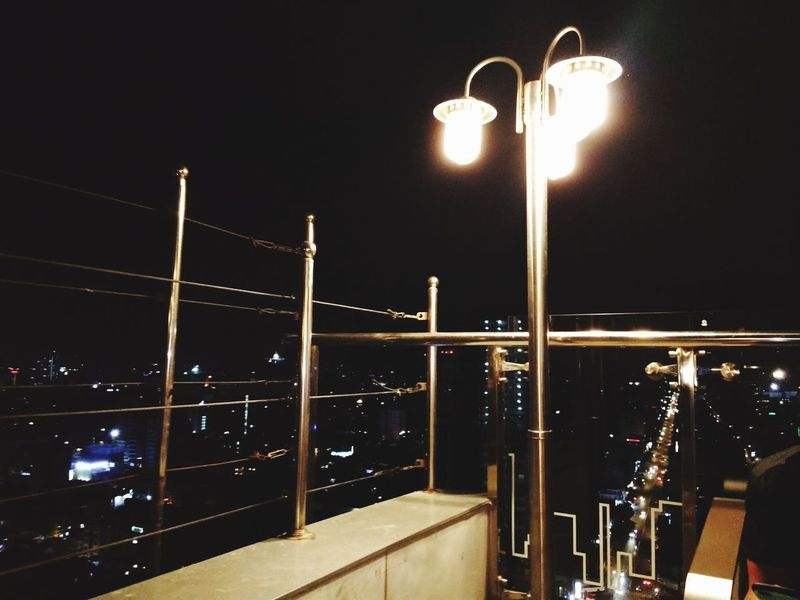 Sky Bar Phnompenh Cambodia Night Illuminated Lighting Equipment Street Light Nightlife No People Moon