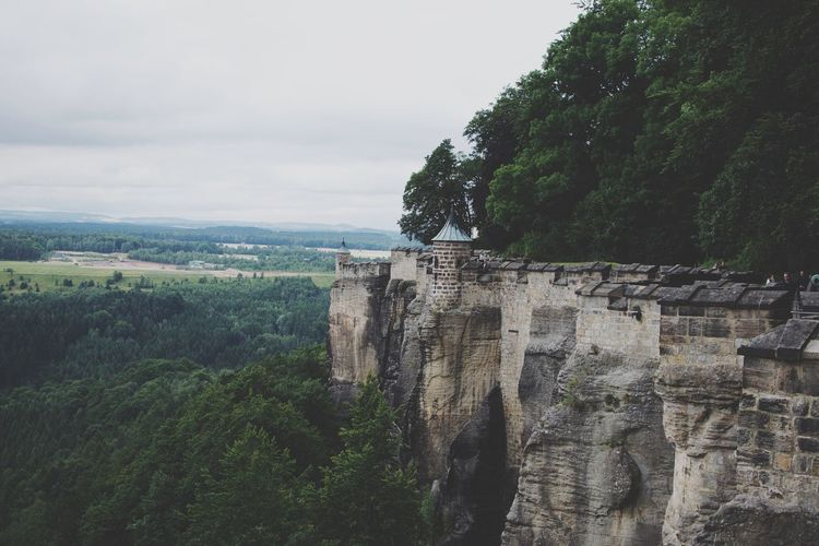 Castle in the sky. Tree Sky Nature Mountain No People Day Outdoors Beauty In Nature Forest Architecture Cliff Scenics Castle Sächsische Schweiz Saxony Königsstein Sachsen Beauty In Nature