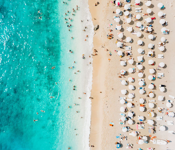 Water Multi Colored Large Group Of Objects High Angle View Aerial View Holiday No People Beach Nature Day Abundance Travel Destinations Vacations Trip Outdoors Blue Land Travel Sea Turquoise Colored Luxury