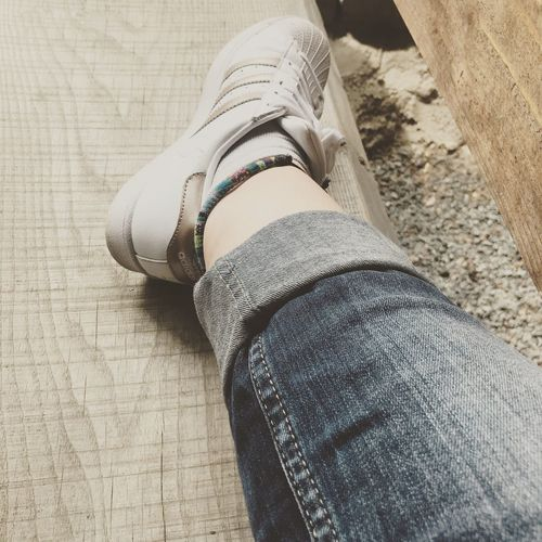 Leg Human Body Part Body Part Human Leg Low Section One Person Real People Limb Shoe Personal Perspective Jeans Casual Clothing High Angle View