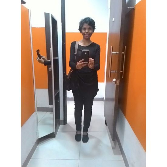 Me Indonesianwomen Selfiesunday Favourite Style Blackshirt