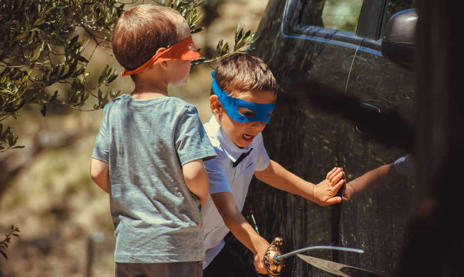 Ninja Turtles Boys Car Casual Clothing Day Focus On Foreground Kids Kids Playing Leisure Activity Lifestyles Nature Ninja Ninja Turtles Outdoors