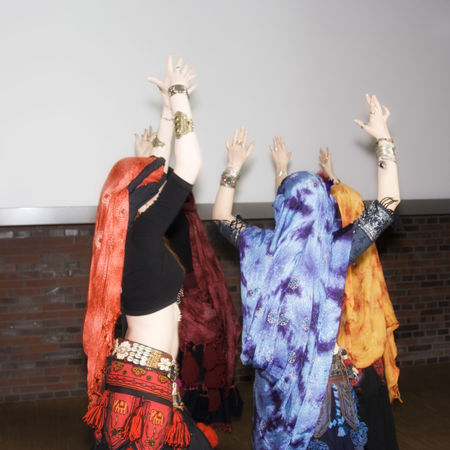 women belly dancing - performance in a traditional outfit Arms Raised Arts Culture And Entertainment Belly Dancer Belly Dancing Bellydance Bellydancer Costume Dance Dancing Entertainment Femininity Grace Headscarf Indoors  Oriental Performance Performance Group Real People Tradition Traditional Clothing Turkey Turkish Unrecognizable Person Women Young Women