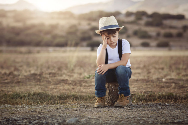 Innocence Meditation Reflection Solitary Thinking Child Childhood Expression Grass In Love Landscape Nature Nostalgic  Portrait Sad Sadness Shy Shyness Sitting Spring Thoughtful