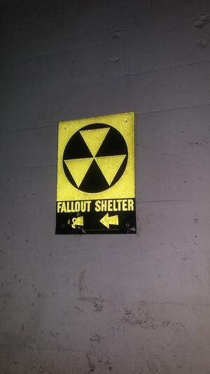 Doomsday Check This Out Basment Reflective Bright Flash Creepy Safety Fall Out Shelter