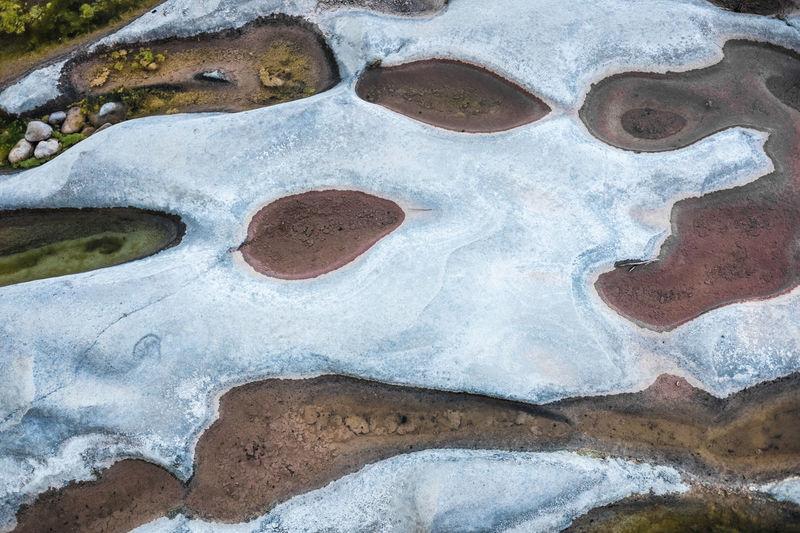 Detail shot of old water