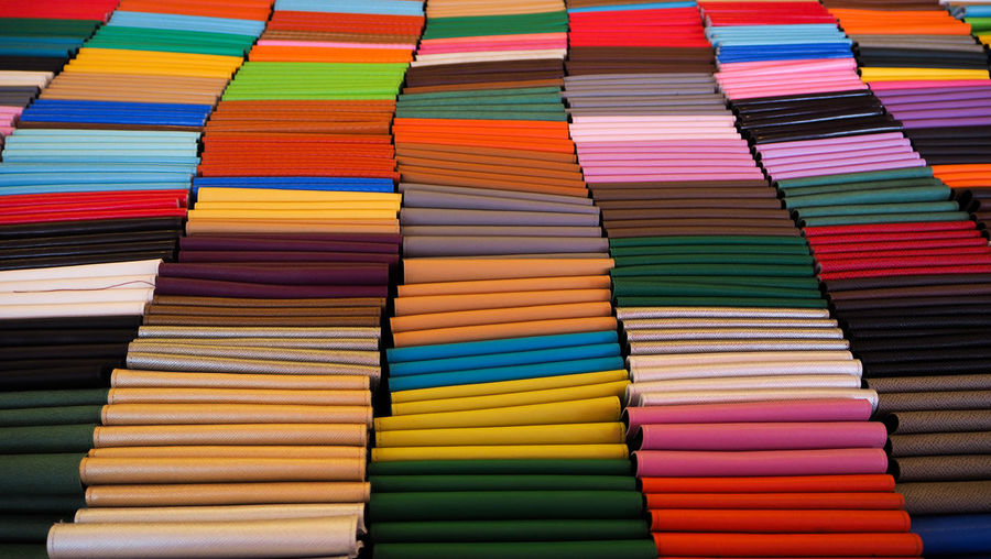 Full frame shot of multi colored textile for sale