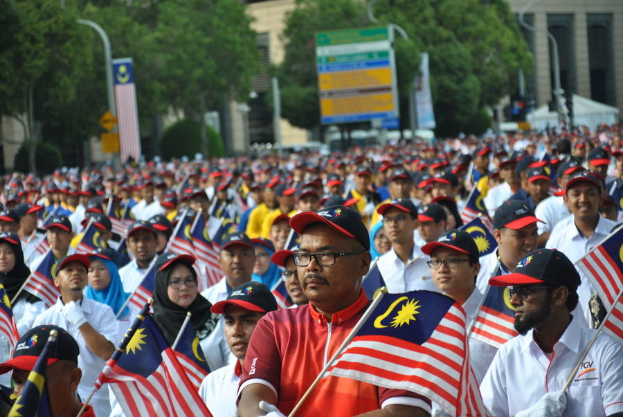 DataranPutrajaya Putrajaya, Malaysia Adult Celebration Crowd DataranPahlawan Day Emotion Front View Group Of People Large Group Of People Malaysia Men Merdeka61 Outdoors Patriotism Pride Real People Spectator Sport Standing Striped Togetherness Unity Women