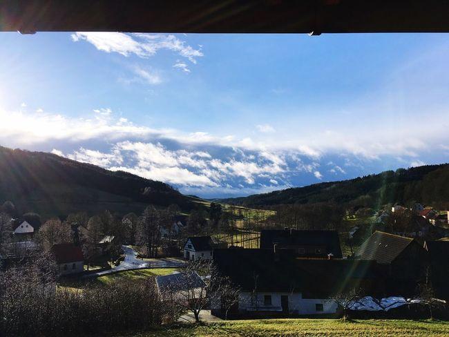 Pottenstein Fränkische Schweiz Sky Mountain Built Structure House Cloud - Sky Landscape Outdoors Sunlight Day No People