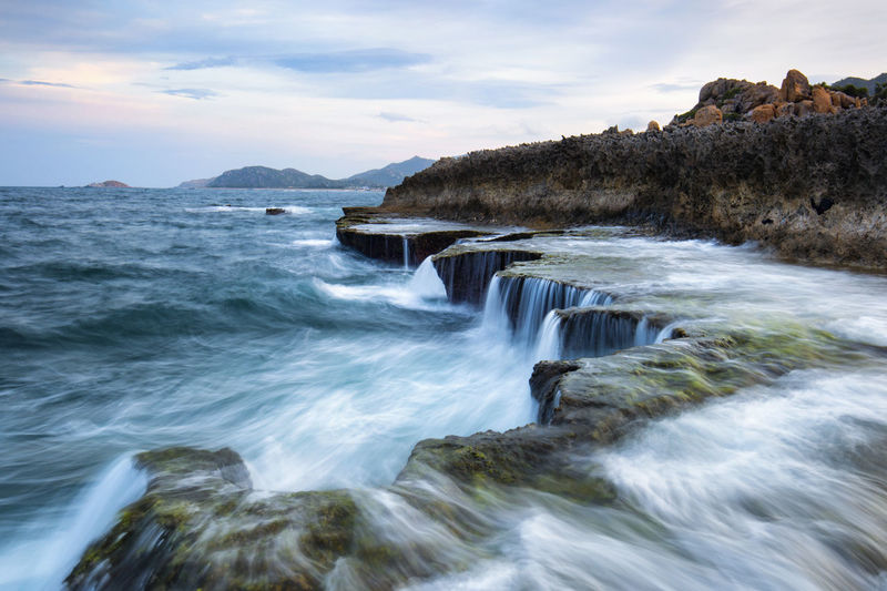 Waterfall on the sea Heritage Lanscape Photography Photography Seascape Sky And Clouds Travel Vietnamphotography Waterfall