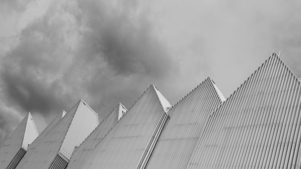 Architecture Architecture Black And White Building Exterior Built Structure Cloud - Sky Day Low Angle View Modern No People Outdoors Philarmonic Sky Stettin