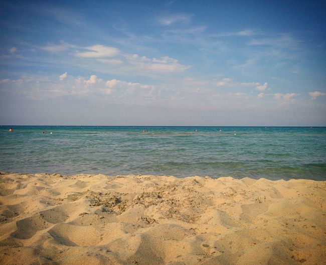 Beach Sea Sand Vacations Horizon Over Water Sky Nature Water Tropical Climate Travel Destinations Tranquility Cloud - Sky Summer Backgrounds Outdoors Day Tranquil Scene Scenics No People Beauty In Nature Salento Spiaggia Beach Italy Italia