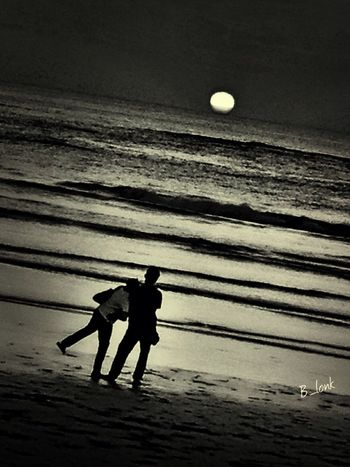 rendezvous . . . at Kuta, Bali Silhouette Sunset Silhouettes Eye4photography  Monochrome