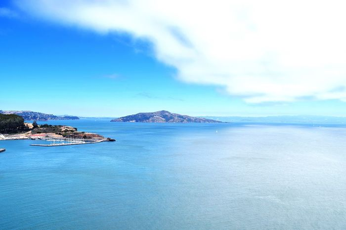 Sanfranciscocalifornia Sanfrancisco Golden Gate Bridge View Sky Cloud - Sky Day Water Mountain No People Scenics Tranquil Scene Tranquility Beauty In Nature Nature Sea Outdoors Blue Landscape Alcatraz Island Alcatraz Prison Alcatraz Alcatraz In Sight