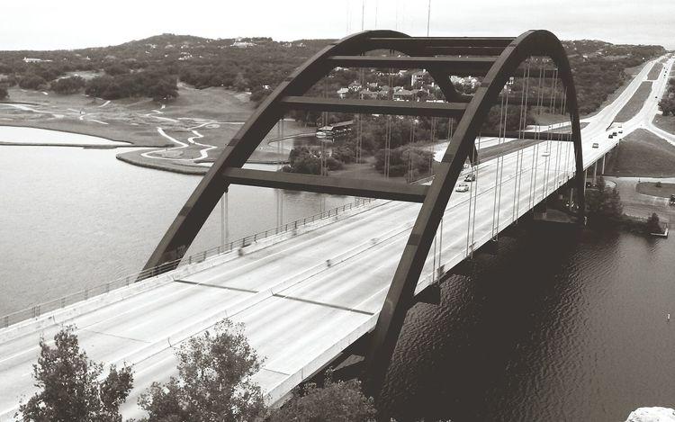 Blackandwhite Texas Bridge Cliff View