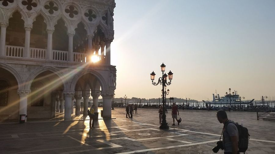 Sunset Over Dodge Palace In Venice