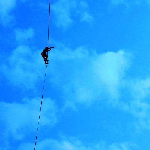Slackline, Exposicion. Slackline, Exposicion. Slackline Highline Longline Slaker Santiago Bosque Magico Giros En El Aire Slackvida Equilibrio Slacklife Tricks Caminata Exposicion Exposition Sunset Slackblue
